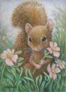 "Art by Lynn Bonnette: ""Picking a Flower"""