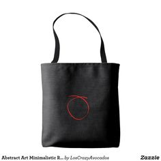 Abstract Art Minimalistic Red Black Tote Bag