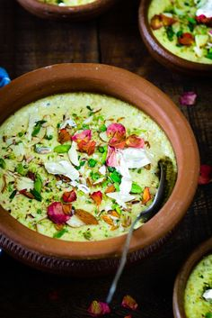 Thandai Phirni is a twist on the traditional Phirni recipe which is an Indian rice pudding and making it very Holi-ish by adding some Thandai Masala Powder to it. Here is how to make this dessert.  #IndianSweets #Indiandesserts