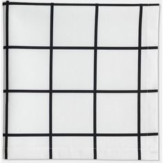 Grid Black Napkin Set of 6 (540.960 IDR) ❤ liked on Polyvore featuring home, kitchen & dining, table linens and black table linens