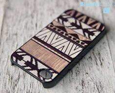 geometric iphone wooden case