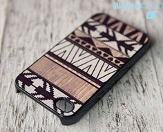geometric iphone wooden case