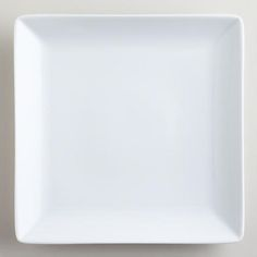 White Coupe Square Dinner Plates, Set of 4 $14.96