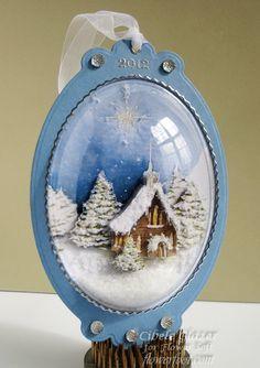 Flower Foot Designs: Flower Soft - Christmas Snow Globe Ornament