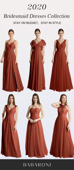 Sku: Hundreds Available Price: Under $99.00 Color: Rust Size: All Sizes Available These are stunning full-length chiffon gowns made of great quality. They are the best choices for bridesmaid dresses. #babaroni #bigsale #2020wedding #weddinginspiration #wedding #wedding #weddings #weddings #weddingdress #weddingdresses #bridalgown #bridesmaid #bridesmaiddress #bridesmaidgown #bridesmaidgowns#bridesmaiddrsses #chiffondress #longdress #dreamdress #longgown#rustcolor