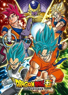 Goku, Vegeta, Whis, Beerus, and Golden Frieza Dragon Ball Gt, Dragon Ball Z Shirt, Dragon Z, V Jump, Anime Echii, Anime Nerd, Majin Boo, Manga Dragon, Dbz Characters