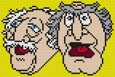 Waldorf And Statler From The Muppets by Maninthebook on Kandi Patterns
