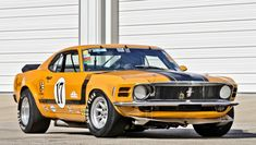 Sports car, Ford Mustang Boss 302, yellow wallpaper