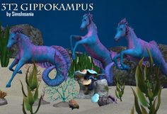 Here's a decorative gippokampus for your sims underwater world in three poses! Original sims 3 objects by Severinka can be found here.Polycount:Gippokampus1: 6027 facesGippokampus2: 6031 facesGippokampus3: 6036 facesPlease be careful with placing these objects on low-end computers! Original objects have 12k faces so they refused to become lowpoly objects during conversion.Found under Decorative/Statue, each of them costs 50 §.  Compressorized. Download | Mirror