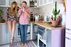 a couple in sync when it comes to style and decorating.