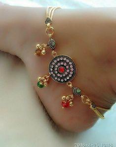 Foot decor Ankle Jewelry, Ankle Bracelets, Body Jewelry, Jewellery, Silver Anklets, Silver Jewelry, Anklet Designs, Toe Rings, Jewelry Patterns