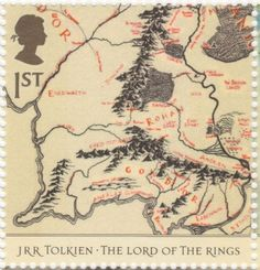 UK - 1st class - JRR Tolkien The Lord Of The Rings Stamp - 2004