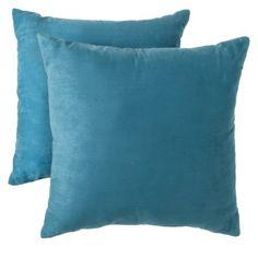 "$12.00 Online Price      SALE     reg: Regular price  $16.99 - Save  (29%)  Room Essentials® Suede Pillow 2-Pack (18x18"")"
