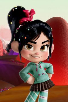 """So according to my 6 yr old son, I look like Vannelope from """"Wreck it Ralph""""."""