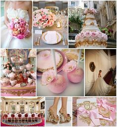 opulent  weddng ideas Marie Antoinette from French Wedding Style Blog