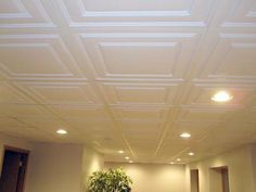 Beautiful Dropped Ceiling In Basement