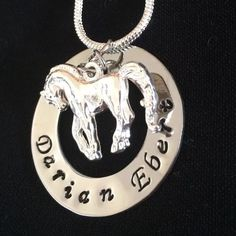 Little Horse Name Necklace by Giftitright on Etsy