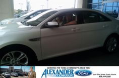 My husband and I have had the pleasure of buying all our vehicles here with Alexander Ford in Yuma, AZ for 15 years. The Service and staff are so wonderful to us. Our Salesman Willie Espinoza was so personable and very knowledgeable about our NEW 2014 Taurus. Thank you from the Phipps Family. We will definitely be back. - Gordon and Olivia Phipps,Tuesday, October 07, 2014 http://www.billalexanderford.com/?utm_source=Flickr&utm_medium=DMaxxPhoto&utm_campaign=DeliveryMaxx
