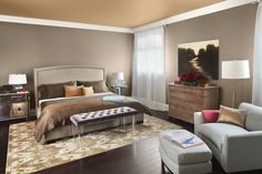 Master Bedroom Paint Colors With Elegant Grey Interior Design Ideas With Simple Decorating Gray Room Paint, Bedroom Paint Design, Best Bedroom Paint Colors, Gray Painted Walls, Grey Room, Living Room Paint, Bedroom Decor, Master Bedroom, Bedroom Ideas