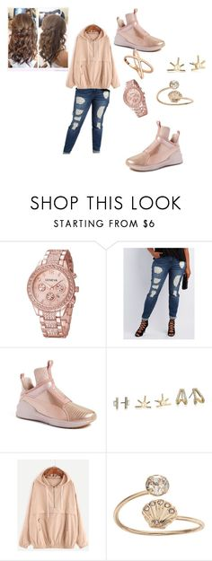 """""""Rose Gold Queen"""" by queennicki1019 on Polyvore featuring Refuge, Puma, BCBGeneration and LC Lauren Conrad"""