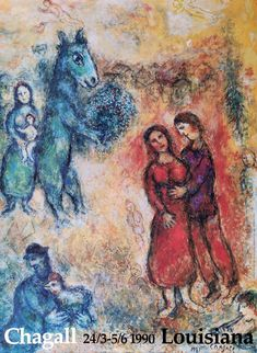 Original udstillingsplakat med Marc Chagall fra Louisiana Museum of Modern Art 1990. Acrylic Painting Lessons, Watercolor Paintings Abstract, Watercolor Artists, Landscape Paintings, Abstract Oil, Painting Art, Indian Paintings, Oil Paintings, Louisiana Museum