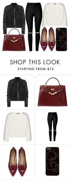 """""""street style"""" by sisaez ❤ liked on Polyvore featuring Rick Owens, Hermès, Alexander McQueen, Charlotte Olympia and Zero Gravity"""