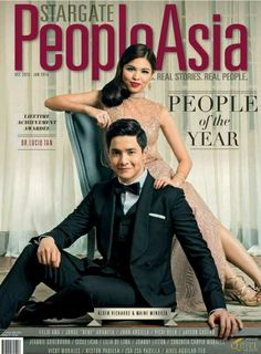 Maine and Alden cover for People Asia Maine Mendoza, Alden Richards, Real People, How To Relieve Stress, Cover Photos, Relationship Goals, Handsome, Singer, Actresses
