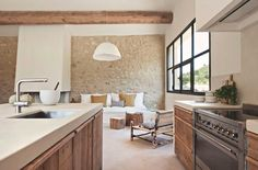 "Kitchen ""Dentelles"" Oak kitchen made in the region of Beaumes de Venise. Realization in collaboration with Marie Laure Helmkampf. Photo credit: Nicolas Mathéus Source by stephanie_anen"