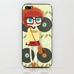 Indie Girl iPhone & iPod Skin by Irene Dose - $15.00 // Indie Clothing Brands & UK Streetwear || AcquireGarms.com