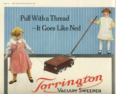 1916 Torrington vacuum sweeper
