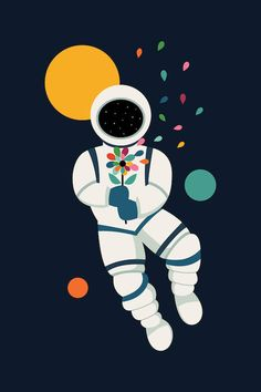 Last Beautiful by Andy Westface as Poster Art Wall Kids, Canvas Wall Art, Canvas Prints, Art Prints, Astronaut Illustration, Cute Animal Illustration, Beautiful Posters, Pencil And Paper, Disney Drawings