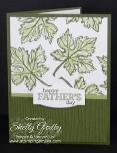 Stampin' Up! Gently Falling Father's Day Card