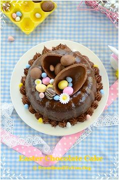 New Chocolate Cake Decorating Ideas Fun 46 Ideas Easter Cake Easy, Easter Bunny Cake, Easter Cookies, Easter Treats, Easter Food, Easter Eggs, Chocolate Easter Cake, Decadent Chocolate Cake, Chocolate Desserts