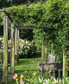Arbor love ❤️ Pergola Garden, Garden Landscaping, Garden Fencing, Landscaping Design, Hampton Garden, Unique Garden, Easy Garden, Edible Garden, English Garden Design