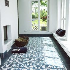 Cement floor tiles are not fired ceramic bodies but tiles that were cast in moulds and pressed. Description from replicata.com. I searched for this on bing.com/images