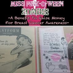 We're thrilled to announce our contribution to the Rockabilly Mafia Dolls Pomona Chapter's Miss Pink-O-Ween Zombie Pin-up Contest benefiting Breast Cancer Awareness! LaOohLaLa Boutique is donating 16 1940s-1950s fashion and beauty ads to the contestants!!