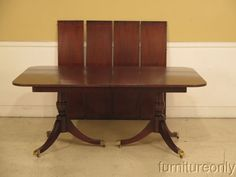 F39154: KINDEL Duncan Phyfe Oxford Mahogany Banded Top Dining Room Table | eBay