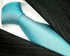 Lorenzo Cana - Design Krawatte aus Seide - Türkis Hellblau mit Punkten - 84404 - [ #Germany #Deutschland ] #Handtasche [ more details at ... http://deutschdesign.apparelique.com/lorenzo-cana-design-krawatte-aus-seide-turkis-hellblau-mit-punkten-84404/ ]