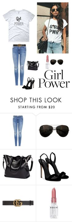 """Girl Power"" by kotnourka ❤ liked on Polyvore featuring Frame, Tod's, Giuseppe Zanotti, Gucci and Rodin"
