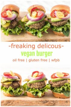 Mushroom Pecan Burgers are one of the BEST veggie burgers! Vegan, gluten-free, oil-free, whole-foods based and with a nut-free option. Healthy Burger Recipes, Best Veggie Burger, Vegan Lunch Recipes, Best Vegan Recipes, Vegan Burgers, Vegan Snacks, Vegan Dinners, Whole Food Recipes, Cooking Recipes