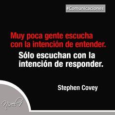 Resultado de imagen para Stephen R. Covey escuchan con la intencion