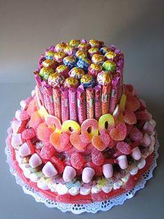 Tarta de Gominolas : Para bodas y fiestas infantiles. cocino y disfruto