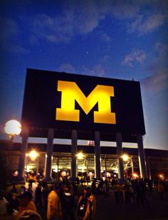 The Big House Night game Michigan Go Blue, State Of Michigan, Detroit Michigan, Detroit Lions, University Of Michigan Athletics, Colleges In Michigan, Michigan Wolverines Football, U Of M Football, College Football