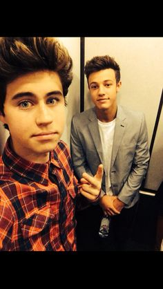 Cameron Dallas and Nash Grier @Cameron Dallas @Nash Grier