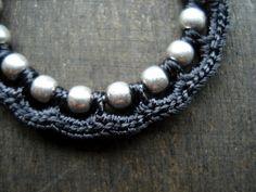 Ball chain and silk - crochet jewelry idea - zsazsazsujuwelen  pic