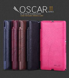 MOQ 1PC Original OSCAR II Series PU+Microfiber Leather cases For SONY Xperia Z L36H Fashion  Book Cover Flip Retail Package