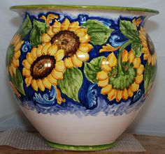26 Lovable Large Mexican Pottery Vases - Hyfanstr French Style Rustic Pitcher Vase Metal Jug Flower for Home. See Also Traditional Sicilian Sunflower Decorated Vase In 2018 Pottery. Rookwood Pottery, Raku Pottery, Mexican Paintings, Native American Pottery, Clay Vase, Italian Pottery, Pottery Designs, Pottery Making, Pottery Painting