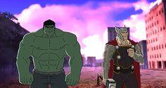 avengers assemble hulk and thor