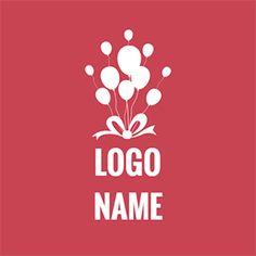 White Balloon and Bowknot Icon logo design Custom Logo Design, Custom Logos, Shopping Cart Logo, Balloon Logo, Magic Memories, Gift Logo, Graphic Design Brochure, Online Logo, How To Make Logo