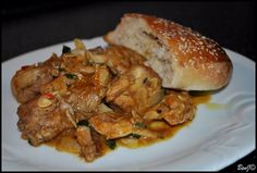 Berberská kuracinka. Dobrý recept z marockej kuchyne. Jednoduché a dobré jedlo, ktoré obsahuje Marockú zmes korenia.